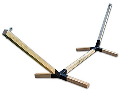 Megaastore - Estructura de hamaca de madera de haya, hasta 150 kg, ancho: 320 cm