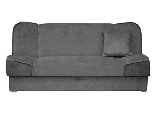Schlafsofa Gemini mit Bettkasten, 3 Sitzer Sofa, Couch mit Schlaffunktion, Bettsofa Schlafsofa Polstersofa Farbauswahl Couchgarnitur (Zetta 305)
