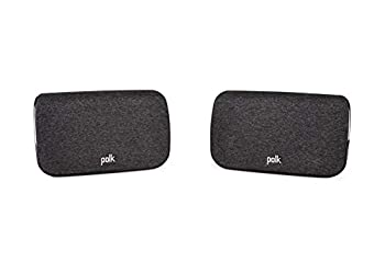 Polk SR2 Wireless Surround Sound Speakers for Select Polk React and Polk Magnifi Sound Bars - Immersive Surround Sound Easy Set Up Multiple Placement Options