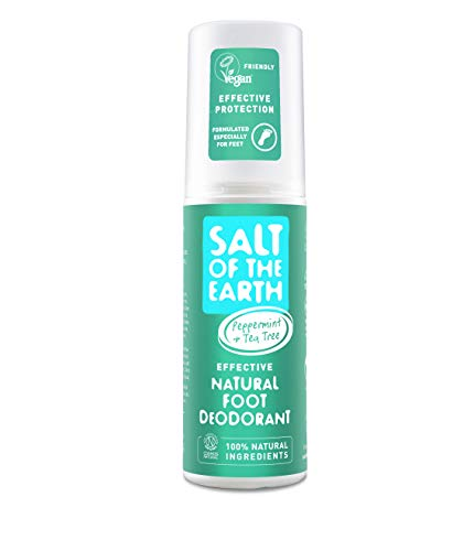 Salt of the Earth Natural Foot Deodorant Spray with Cooling Menthol (100ml)