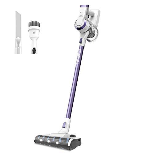 Tineco A10 Dash Aspirateur sans fil, 300W 17Kpa Aspirateur Portatif Puissant avec Filtre HEPA Brosse LED Nettoyage Profond Silencieux pour Poils d'Animaux Sols Durs Tapis