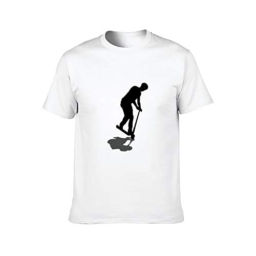 DKISEE Scooter Freestyle Nose Manual - Camiseta de manga corta para hombre ComfortSoft White Scooter freestyle nariz manual 1 4XL