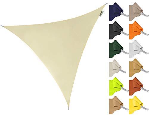 Kookaburra Sonnensegel Wasserabweisend 3,6m Dreieck Elfenbein