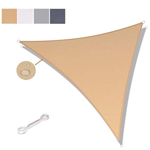 Shade Sails NEVY - Driehoek Waterbestendig Tuin Patio Zonoverkapping 160 gsm PES Polyester Met Gratis Touw UV Blok Patio Luifel 4 Kleuren En 9 Maten 3x3x3m #2