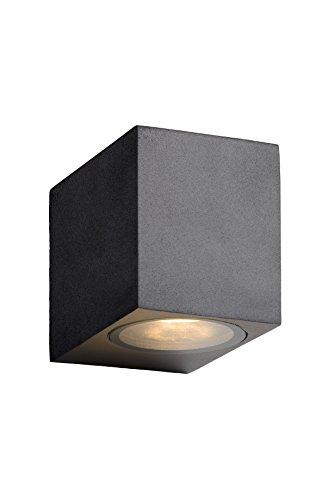 Lucide ZORA-LED - Spot Mural Extérieur - LED Dim. - GU10 - 1x5W 3000K - IP44 - Noir