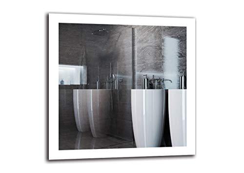 Espejo LED Premium - Dimensiones del Espejo 80x80 cm - Espejo de baño con iluminación LED - Espejo de Pared - Espejo de luz - Espejo con iluminación - ARTTOR M1ZP-50-80x80 - Blanco frío 6500K