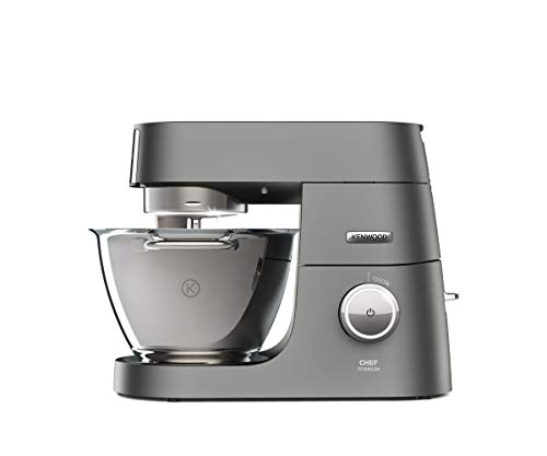 Kenwood Chef Titanium KVC7320S – leistungsstarke Küchenmaschine, 4,6 l Rührschüssel mit Innenbeleuchtung, Easy-Lift & Interlock-Sicherheitssystem, 1500 Watt, inkl. 5-teiligem Patisserie-Set, silber