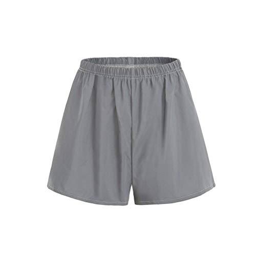 JUSTTIME Reflecterende shorts van kleur veranderende zomer leggings met brede pijpen Small Helderwit