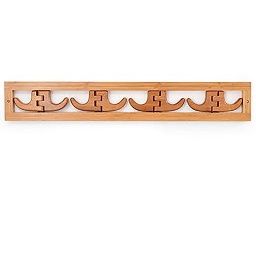 Colgante de colgaje de pared plegable Percha de montaje en la pared para ahorrar espacio moderno de la moda creativa gancho de bambú gancho de bambú para baño dormitorio sala de estar sala de estar