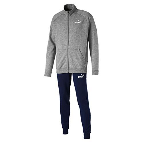 PUMA Herren Trainingsanzug Clean Sweat Suit CL, Medium Gray Heather, L, 844889
