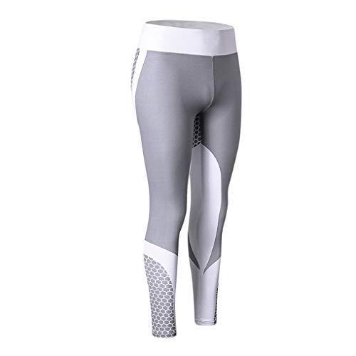 Xinjieda Frauen Cellular Digital Print Leggings Butt Lift High Waist Yoga Fitness Pants