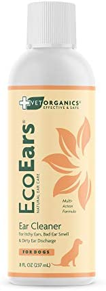 Vet Organics EcoEars Dog Ear Cleaner. Natural Multi-Action Formula. for Itch, Head Shaking, Discharge & Smell. Naturally Cleanses Away Common Problems. 100% Guaranteed