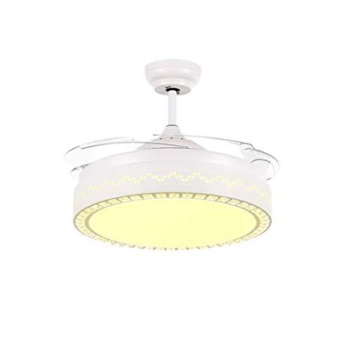 Luz del ventilador Ventilador de Techo 92 cm / 108 cm Restaurante hogar Dormitorio lámpara Ventilador de Techo LED40W Ventilador de Techo luz (Color : A-92cm)