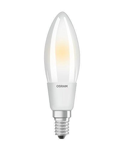Osram LED SuperStar Classic B Lampe, in Kerzenform mit E14-Sockel, dimmbar, Ersetzt 50 Watt, Matt, Warmweiß - 2700 Kelvin, 6er-Pack