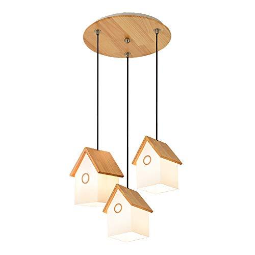 TYX Crossdresser Kandelaar met drie houten kaarsen, verlichting voor kinderkamer, energieklasse A++, C