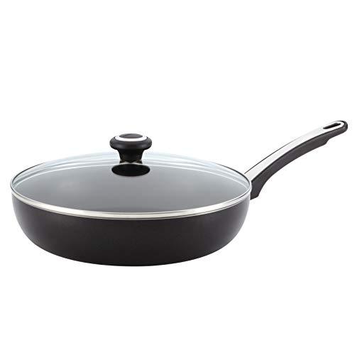 Farberware 21582 High Performance Nonstick Frying Pan / Fry Pan / Skillet with Lid - 12 Inch, Black