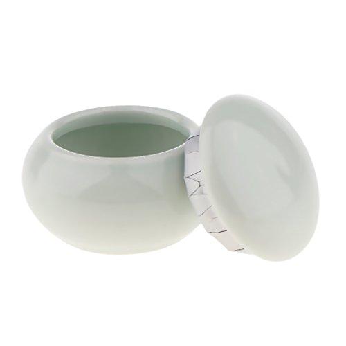 freneci Contenant de à Lèvres de Crème de Poudre de Fard à Paupières de Pot de Pot Vide Cosmétique de Céramique - Bleu ciel