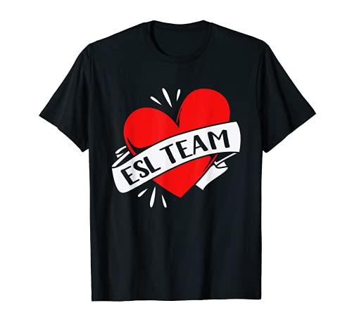 Zurück zur Schule für Lehrer ESL-Team T-Shirt