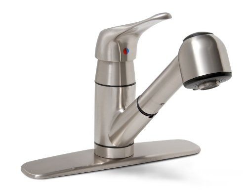 Premier 120161LF Sonoma Single-Handle Kitchen Faucet with Pull-Out Spout, Brushed Nickel