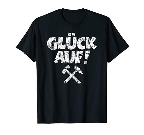 Glück Auf mit Schlägel und Eisen Bergbau T-Shirt