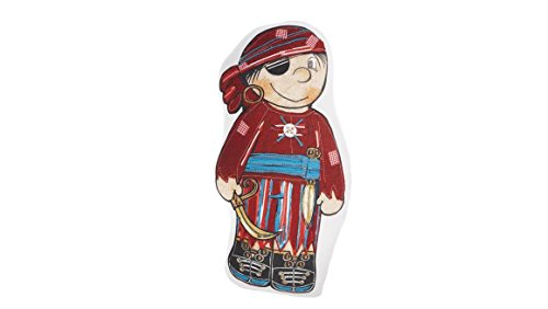 Beddinghouse Kids Pirate in Red–Cojín decorativo (/rojo, 100 % algodón, rojo, Product size: 45x21