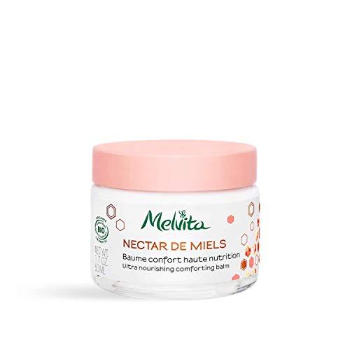 Melvita - Baume Nourrissant et Apaisant Nectar de Miels - Au Miel de Thym Bio - Soin Réparation Intense Certifié Bio et Naturel à 99% - Peaux Sèches et Sensibles - Pot 50 ml