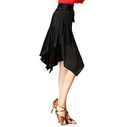 LightInTheBox Lateinischer Tanzrock für Damen, Training, Performance, Spandex/Chinlon, Leopardenrock - schwarz - Einheitsgröße