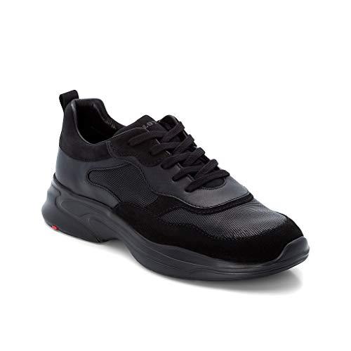 LLOYD Herren Low-Top Sneaker Acton, Männer Sneaker,Halbschuh,Schnürschuh,Strassenschuh,Business,Freizeit,SCHWARZ,7 UK / 40.5 EU
