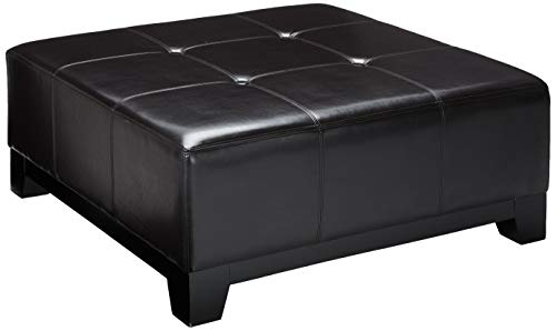 Christopher Knight Home Darlington Bonded Leather Ottoman, Espresso Brown