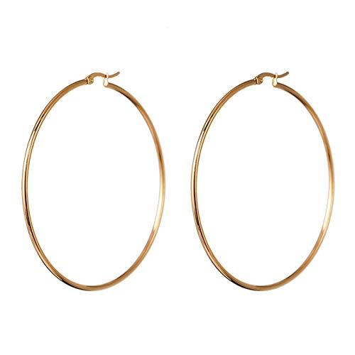 Pendientes de aro pequeños chapados en oro de 14 quilates con circonita cúbica bohemia para mujeres y niñas