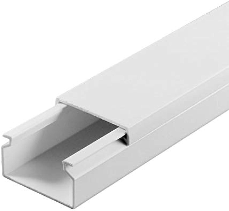 SCOS Smartcosat SCOSKK112 30 m Kabelkanal (L x B x H 2000 x 25 x 16 mm, PVC, Kabelleiste, Schraubbar) weiß B079QQXHQ9 | Zahlreiche In Vielfalt