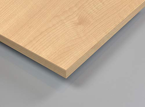 MySpiegel.de Tischplatte Holz Zuschnitt nach Maß Beschichtete Holzdekorplatte in 25mm (100 x 60 cm, Ahorn Natur)