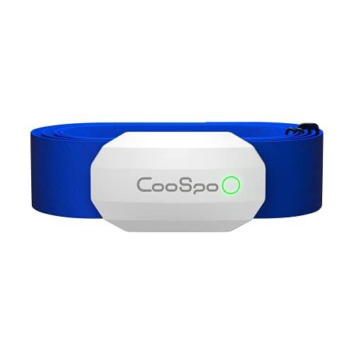 CooSpo Fascia Cardio Cardiofrequenzimetro Fascia Toracica Sensore di Frequenza Cardiaca Bluetooth Ant+ Impermeabile IP67 Compatibile con Zwift, iCardio, DDP Yoga e Altro