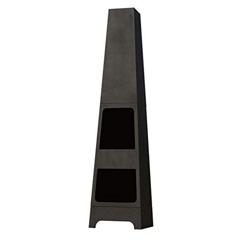 La Hacienda Malmo Steel Chimenea Log Store - Black (Patio Heater)