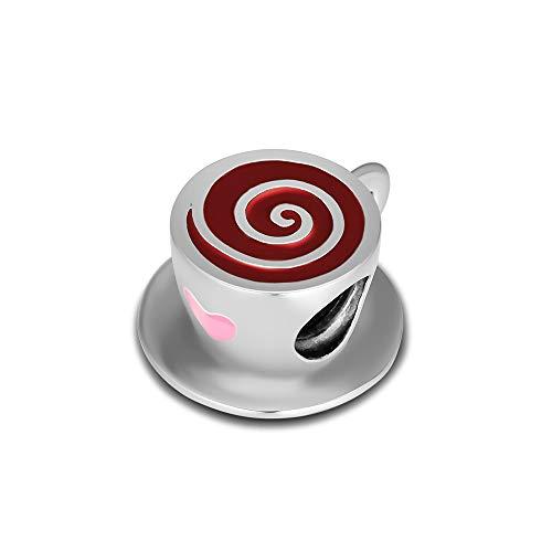 SOPMGJS DIY Passt Für Original Pandora Armbänder 925 Sterling Silber Kaffeetassen Cafe Perlen Charms Frauen Mädchen Schmuckherstellung Kralen Berloques