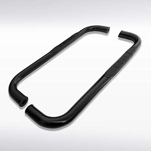 Autozensation For Dodge Ram Regular Cab 3' Black Coated S/S Running Boards Side Step Bar