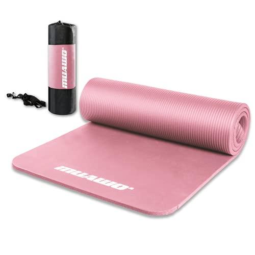 Premium Sportmatte und Fitnessmatte, perfekt als Yogamatte, Gymnastikmatte, Trainingsmatte - rutschfest, Extra-dick, Extra-lang - Schadstofffrei - 190 Länge x60 Breite x1,35 cm dicke - Rosa
