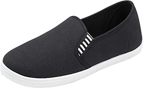 Dunlop Mens Casual Padded Canvas Plimsolls Shoes (Gary BW, Numeric_11)