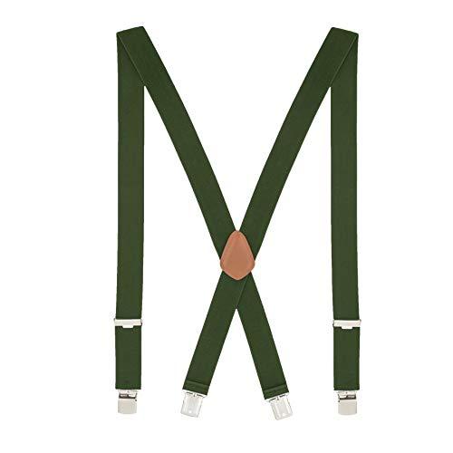 MLM Tirantes para hombres Tirantes para hombres Heavy Duty 4 Clips Wide 1.4