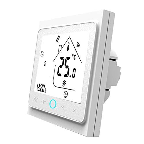 Easyeeasy Controlador de temperatura de termostato inteligente para agua/calefacción eléctrica por suelo radiante funciona con caldera de agua/gas