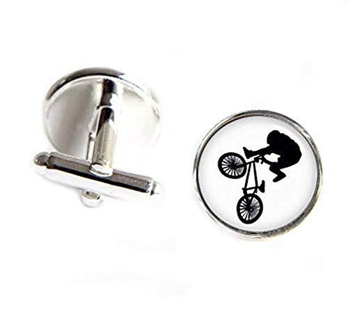 Gemelos de bicicleta BMX, juegos de BMX, silueta de cualquier deporte, gemelos de BMX, gemelos personalizados, gemelos de boda personalizados, gemelos de novio