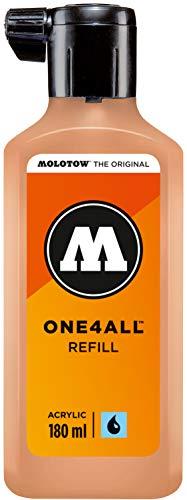 Molotow ONE4ALL - Recambio de tinta acrílica (180 ml), color melocotón pastel