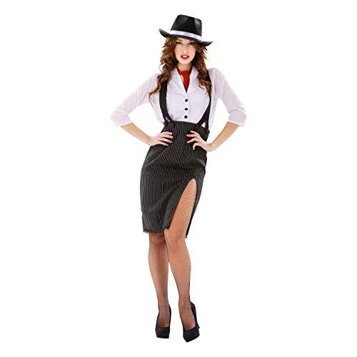 Desconocido My Other Me - Disfraz de Mujer Gánster, talla M-L (Viving Costumes MOM00522)