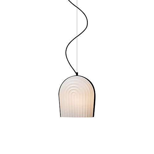 Lámpara de Resina de Resina de luz Colgante nórdica Lámpara Colgante de Techo geométrico, Kits de Montaje de iluminación de suspensión Minimalista para Dormitorio Sala de Estar de Comedor, E27 Simple