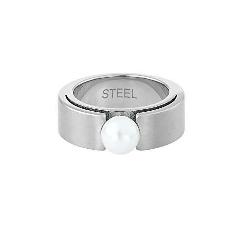 Heideman Ring Damen Perlenring Spannring aus Edelstahl Damenring für Frauen mit Swarovski Perle
