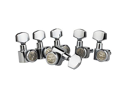 Guyker 6Pcs Guitar Locking Tuners (6 Right Hand) – 1:16 Lock String Sealed Tuning Key Pegs Machine Heads Set Replacement for Electric or Acoustic Guitars – Chrome