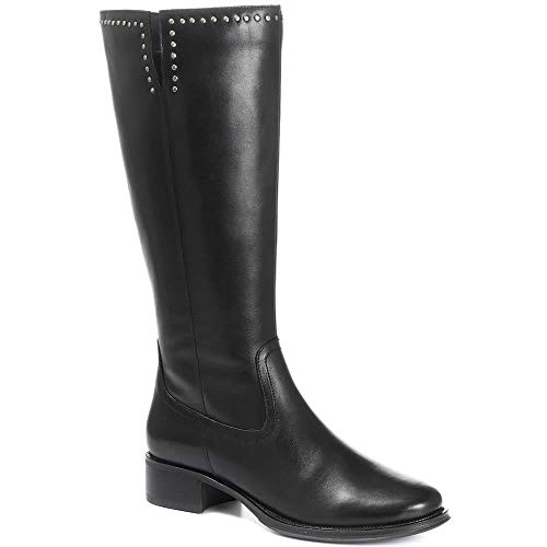 Pavers Wide Leg Leather Knee Boot 317 289 - Black Size 6 (39)