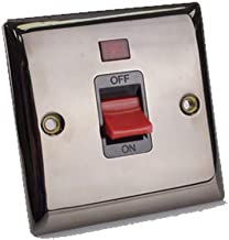 SMJ PPSW45SGN-BS 45A DP Switch with Neon-Brushed Steel