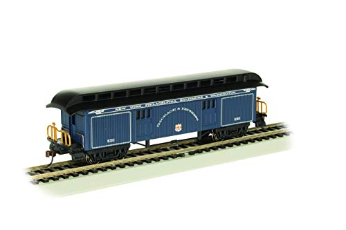 Old-Time Baggage Car with Round End Clerestory Roof - B&O Royal Blue - HO Scale