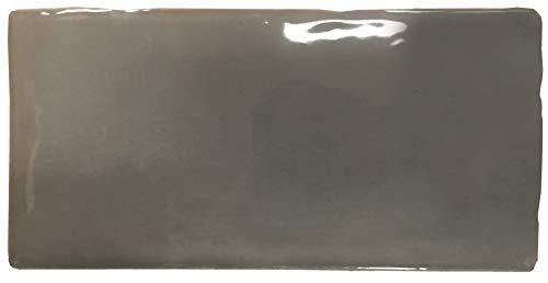 Nais - Baldosas cerámicas para paredes de interior - Colección Masía - Color Ice Dark (7,5x15 cm) - Caja de 1 m2 (88 piezas)